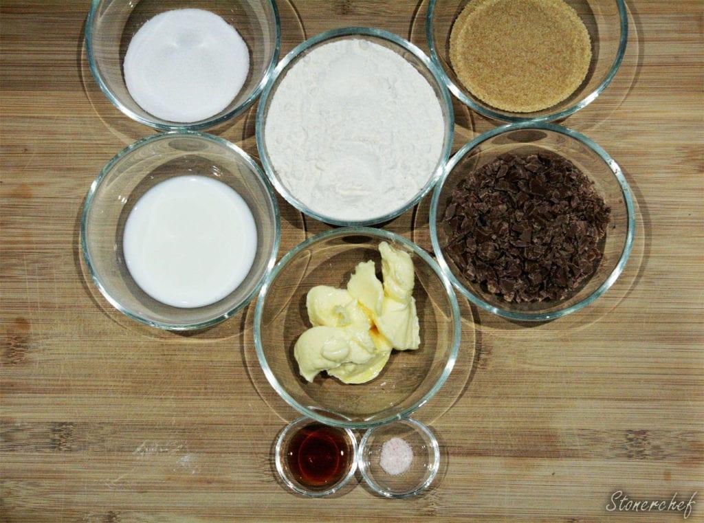 składniki na cookie dough