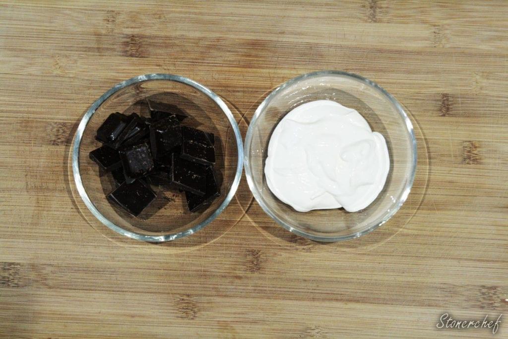 składniki na ganasz czekoladowy