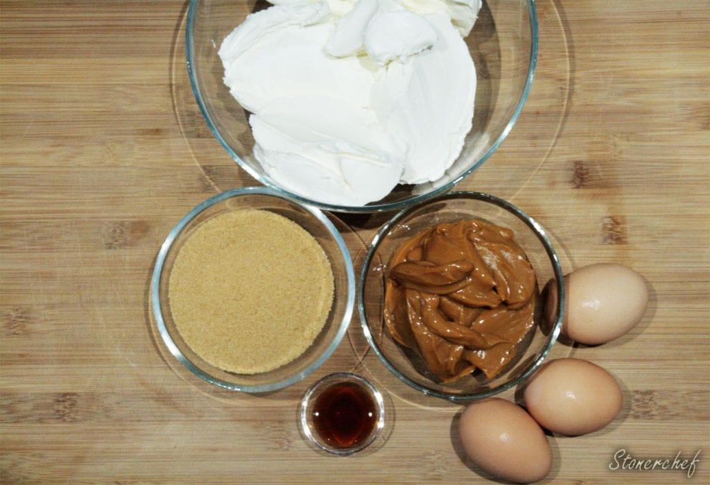 składniki na kajmakową masę sernikową