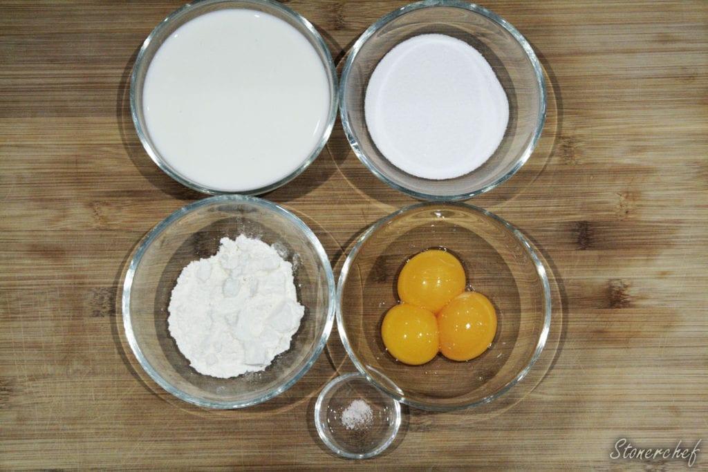 składniki na krem do pączków