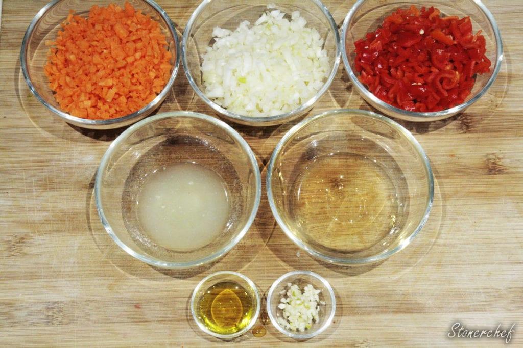 składniki na ostry sos habanero
