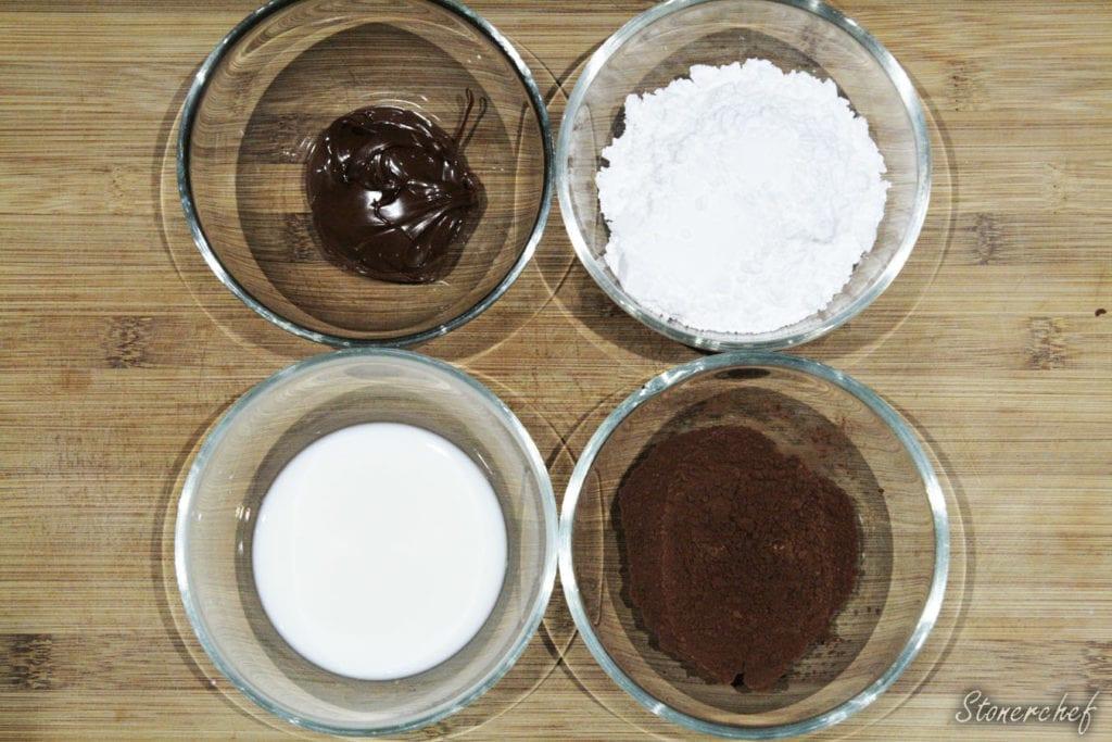 składniki na polewę z Nutelli
