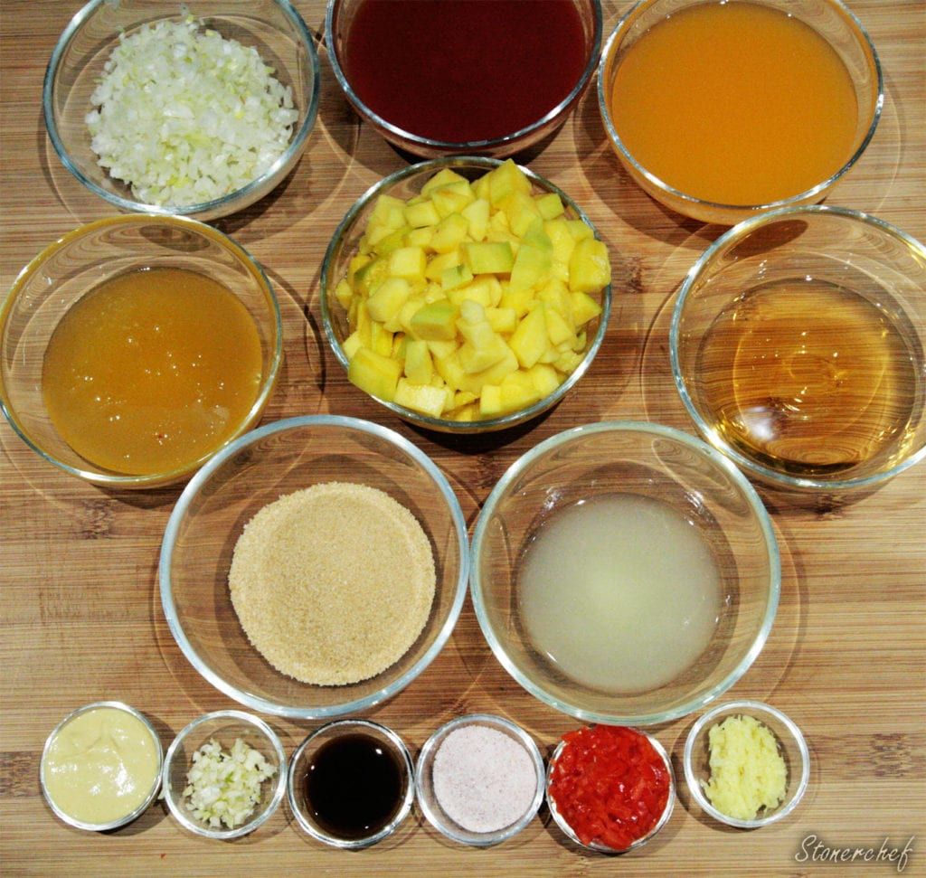 składniki na sos bbq mango habanero
