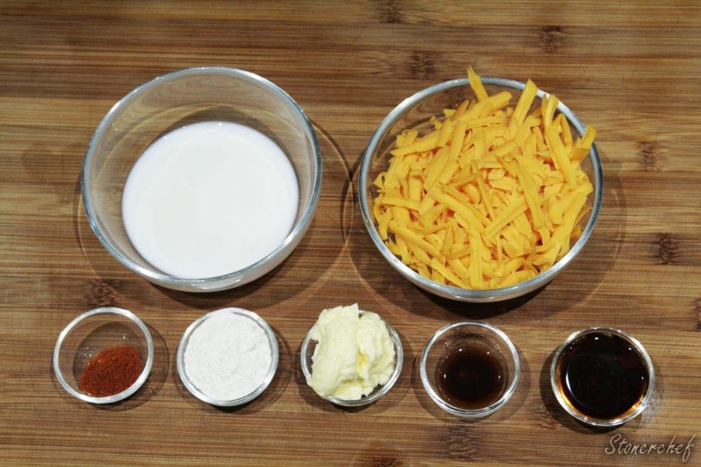 składniki na sos serowo-piwny