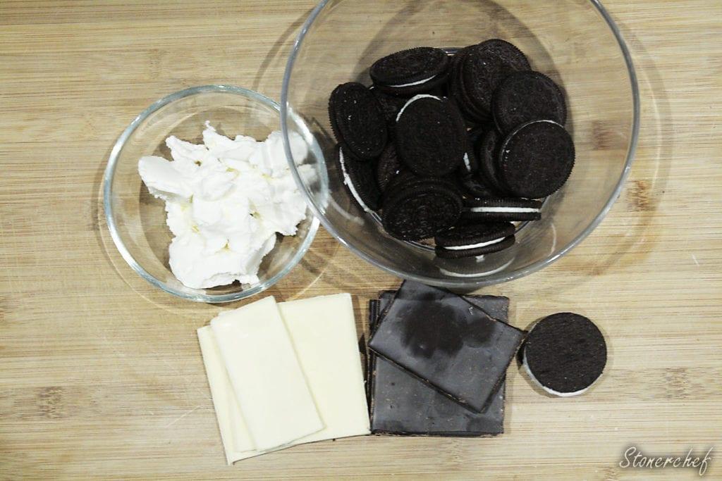 składniki na trufle oreo