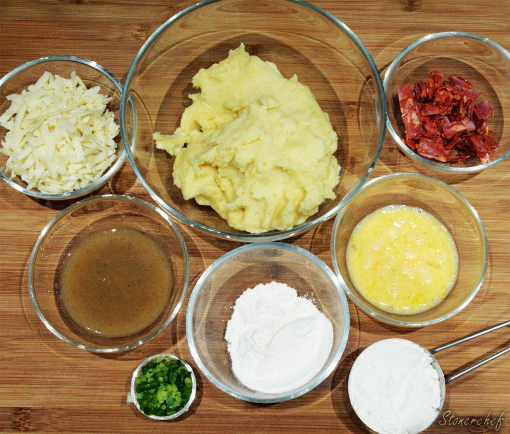 składniki na ziemniaczane pancakes