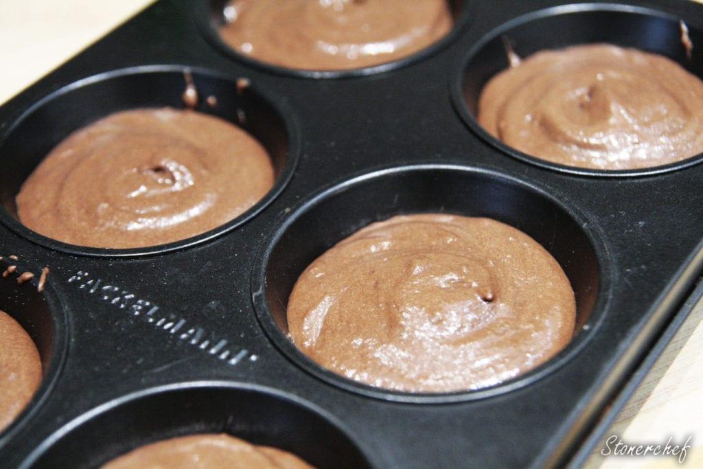 masa na babeczki snickers w formie