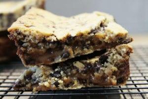 nieprzyzwoicie karmelowe bloki ciasteczkowe
