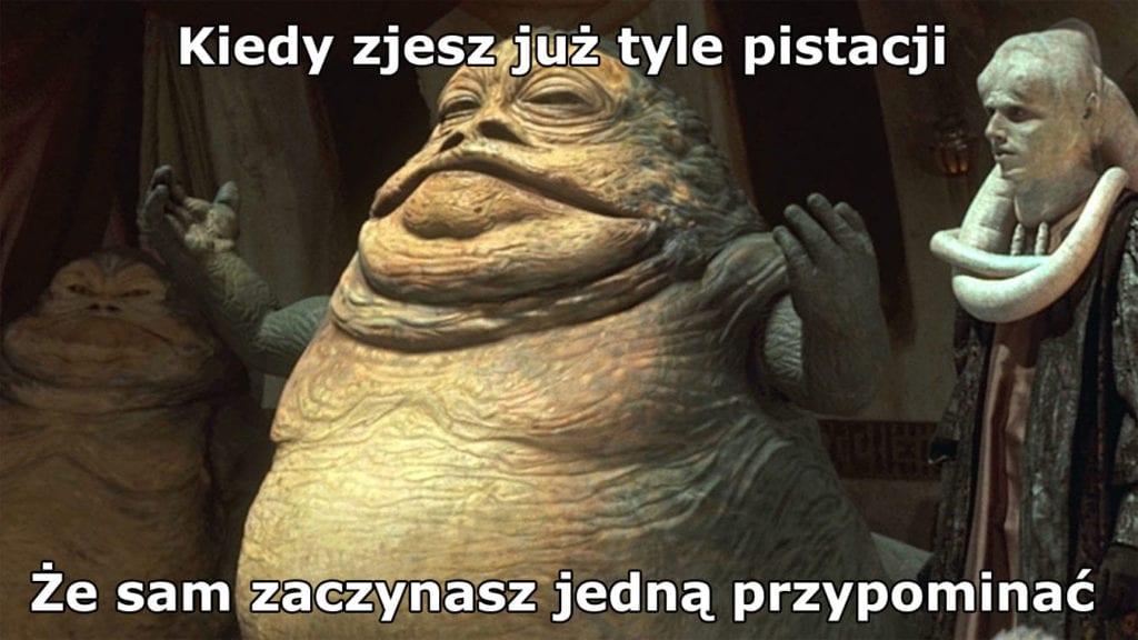 mem z pistacjami
