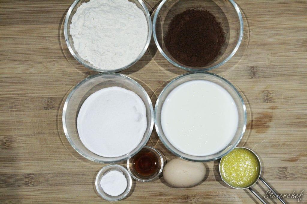 składniki na babeczki snickers