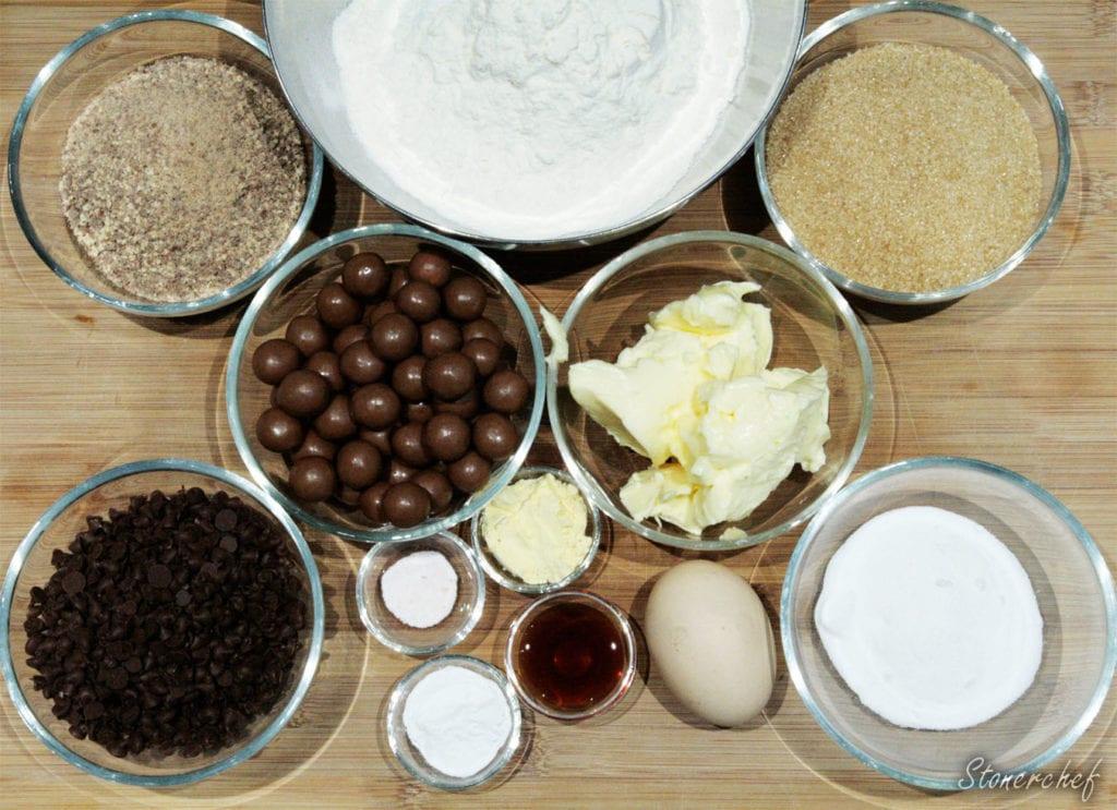 składniki na ciastka maltesers