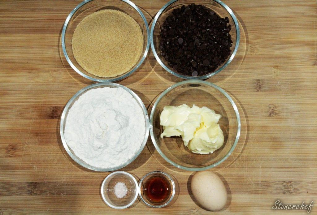 składniki na cookie dough z jajkiem