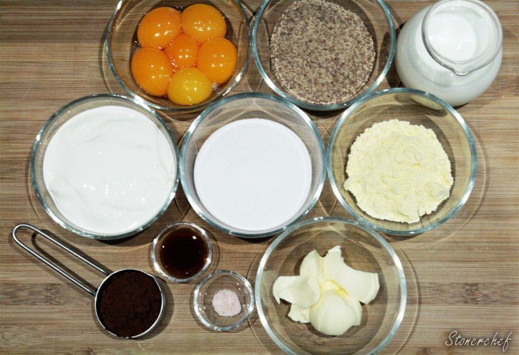 składniki na pudding maltesers