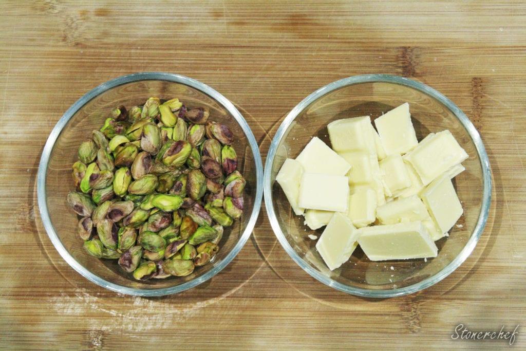 składniki na krem pistacjowy