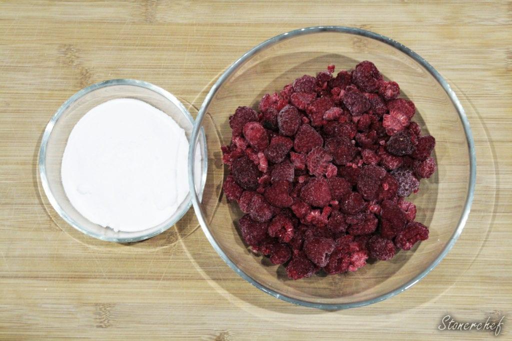 składniki na sos malinowy