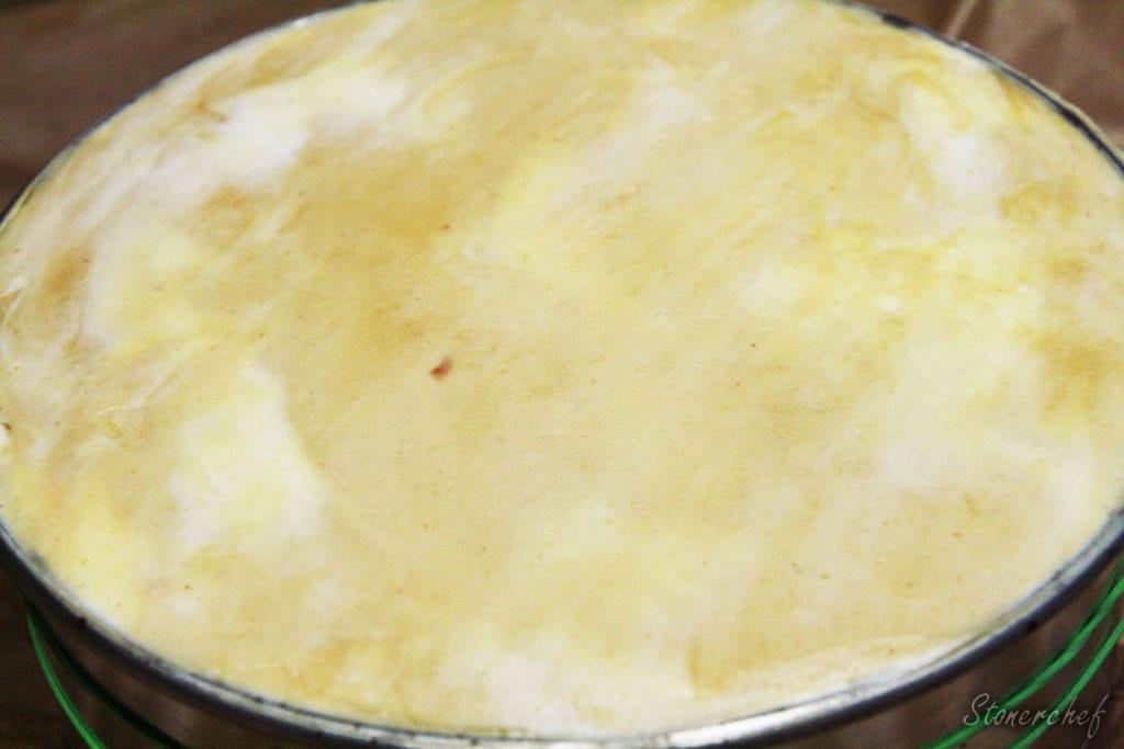 wygładzony sernik przed schłodzeniem