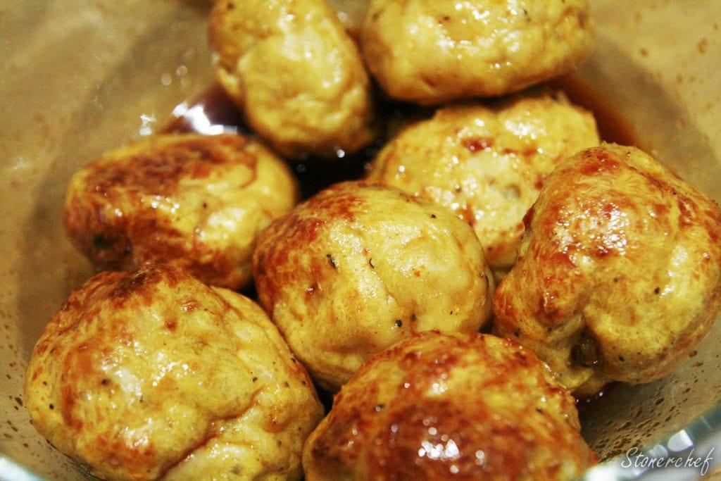 pulpety z kurczaka w sosie