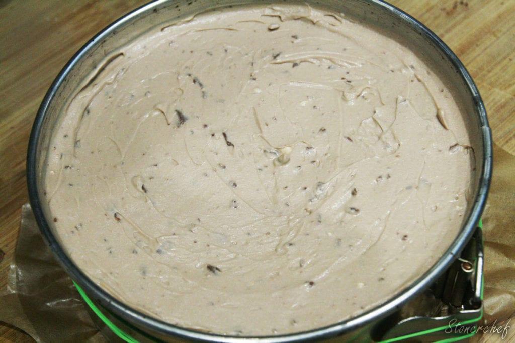 sernik toblerone przed chłodzeniem