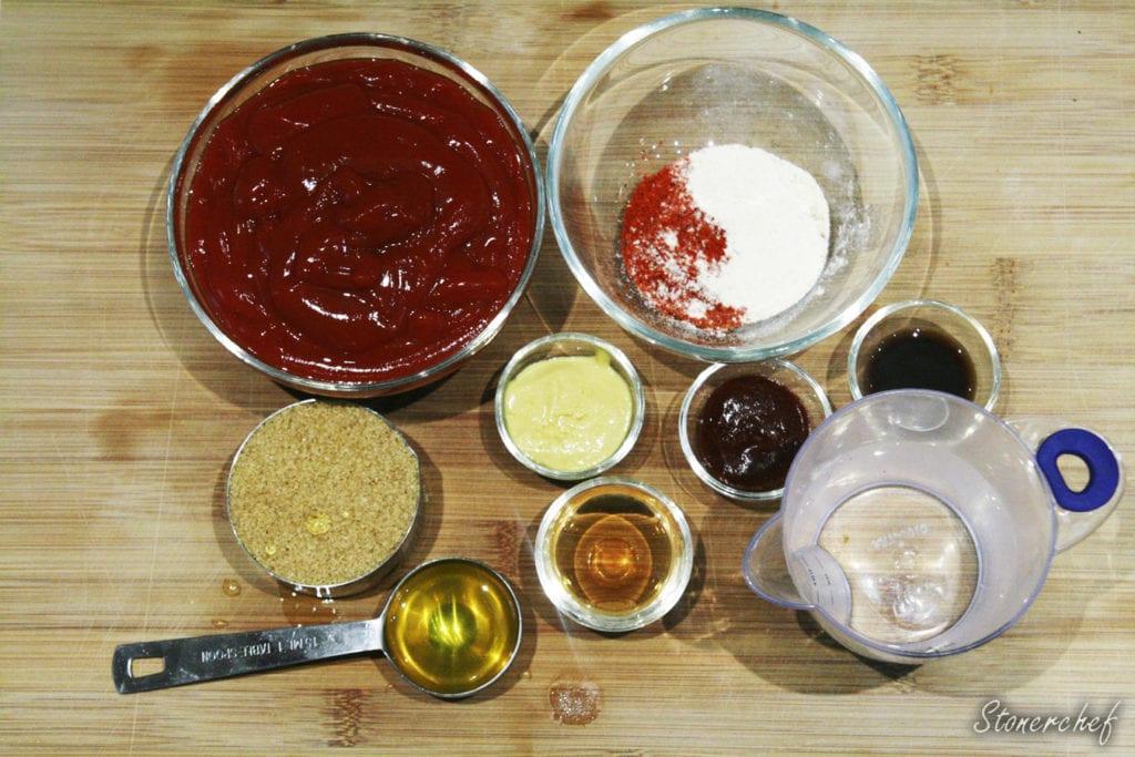 składniki na klasyczny sos barbecue