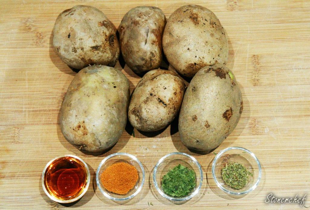 skladniki na pieczone ziemniaki