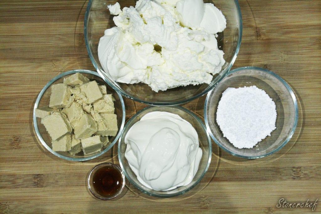 składniki na sernikową masę chałwową