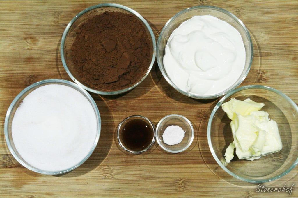 składniki na sos czekoladowy