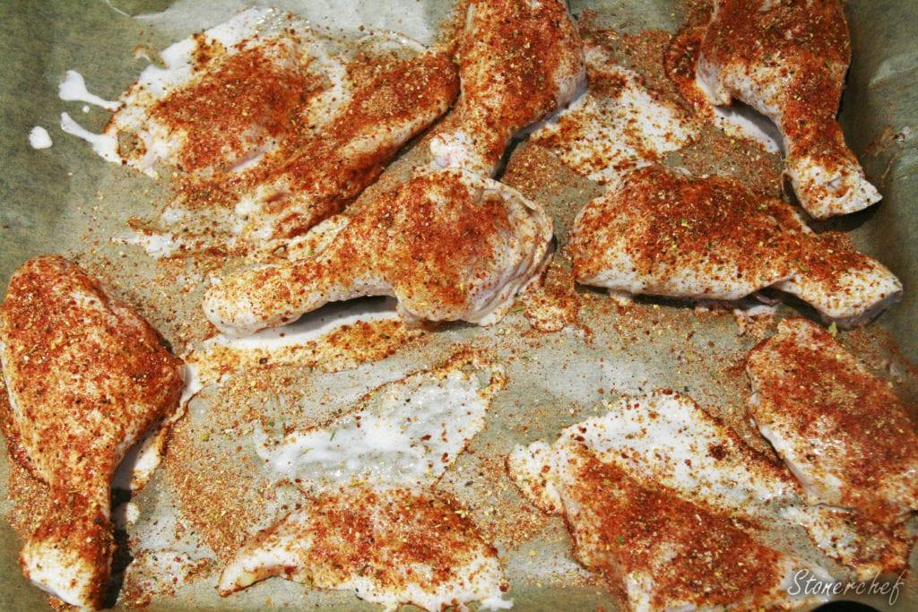 przyprawiony kurczak