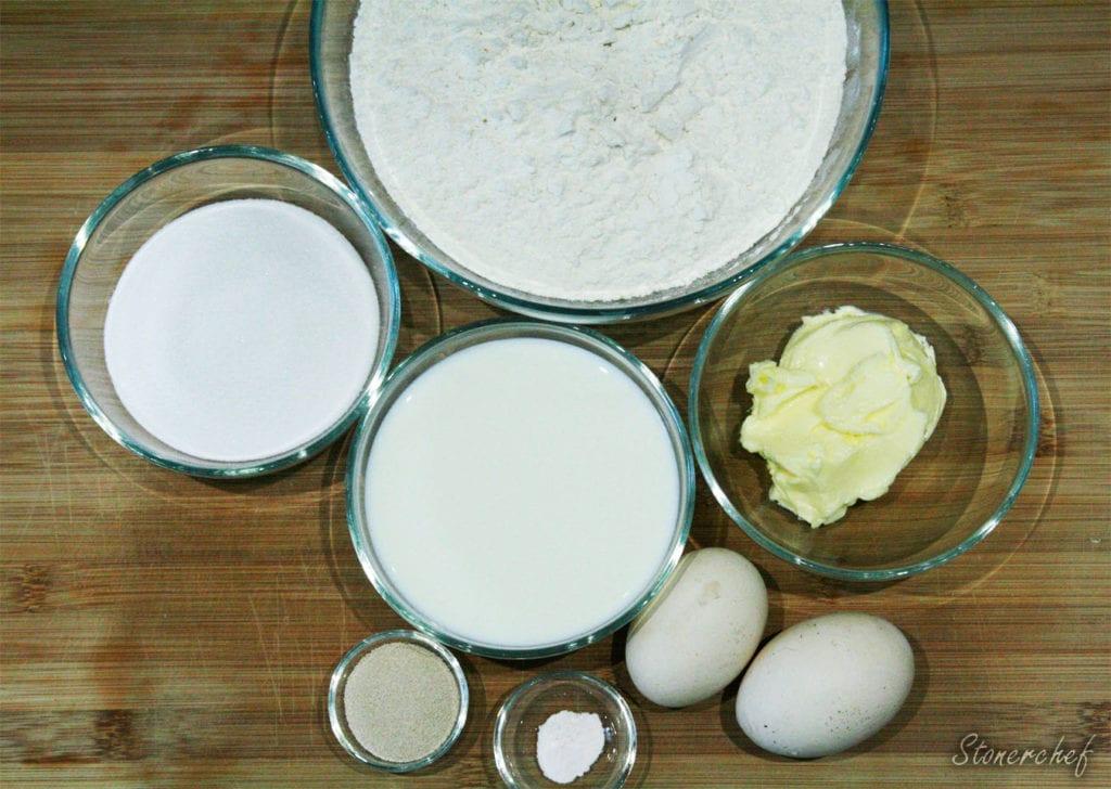 składniki na bułeczki cynamonowe z kremem oreo