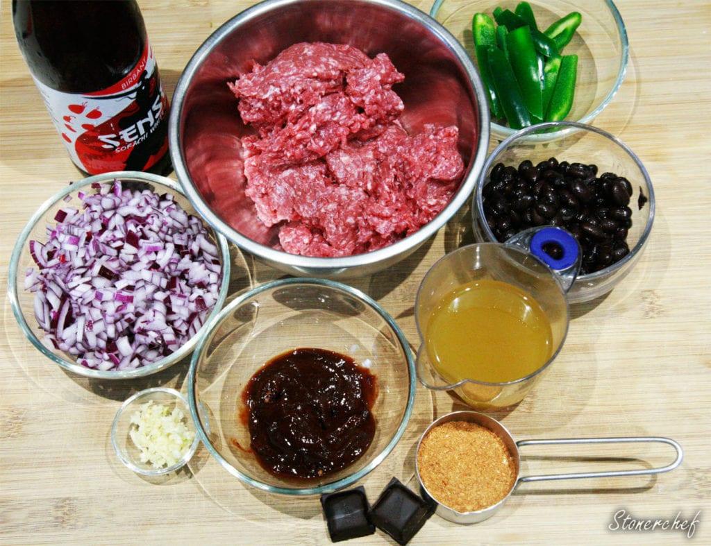 składniki na chili con carne