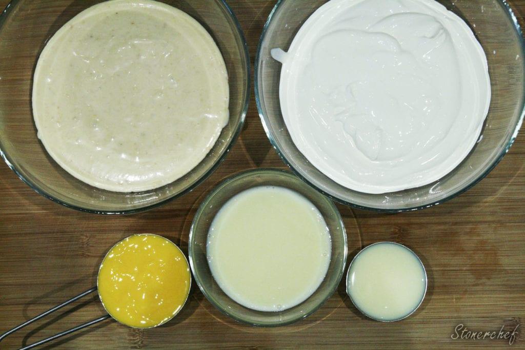 składniki na lody o smaku białych michałków