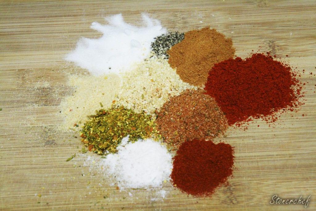 składniki na przyprawę do kurczaka