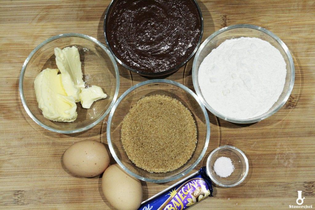 składniki na bajeczne brownie