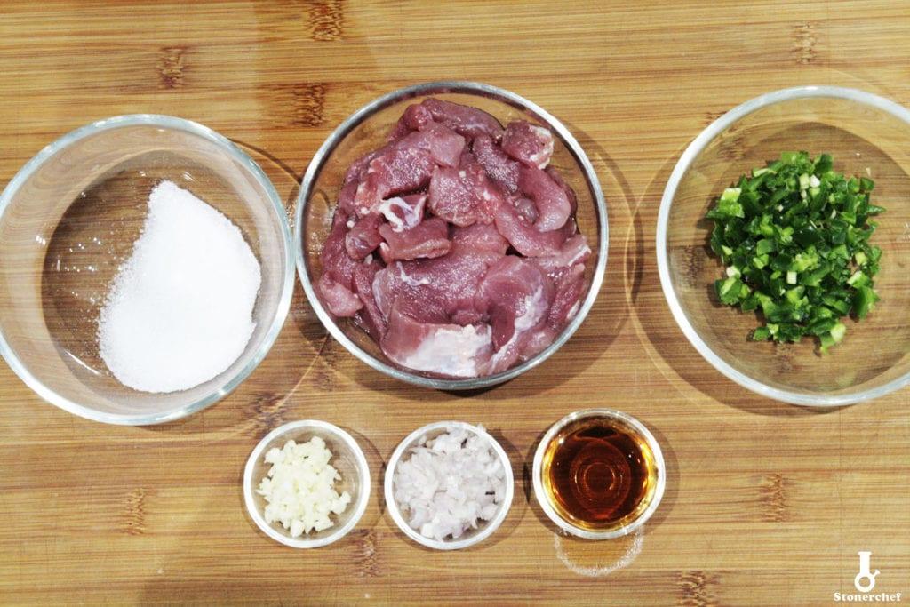karmelizowana wieprzowina składniki