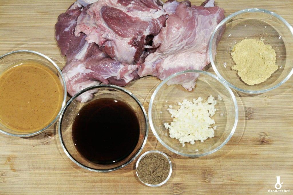 składniki na orientalnego pulled porka