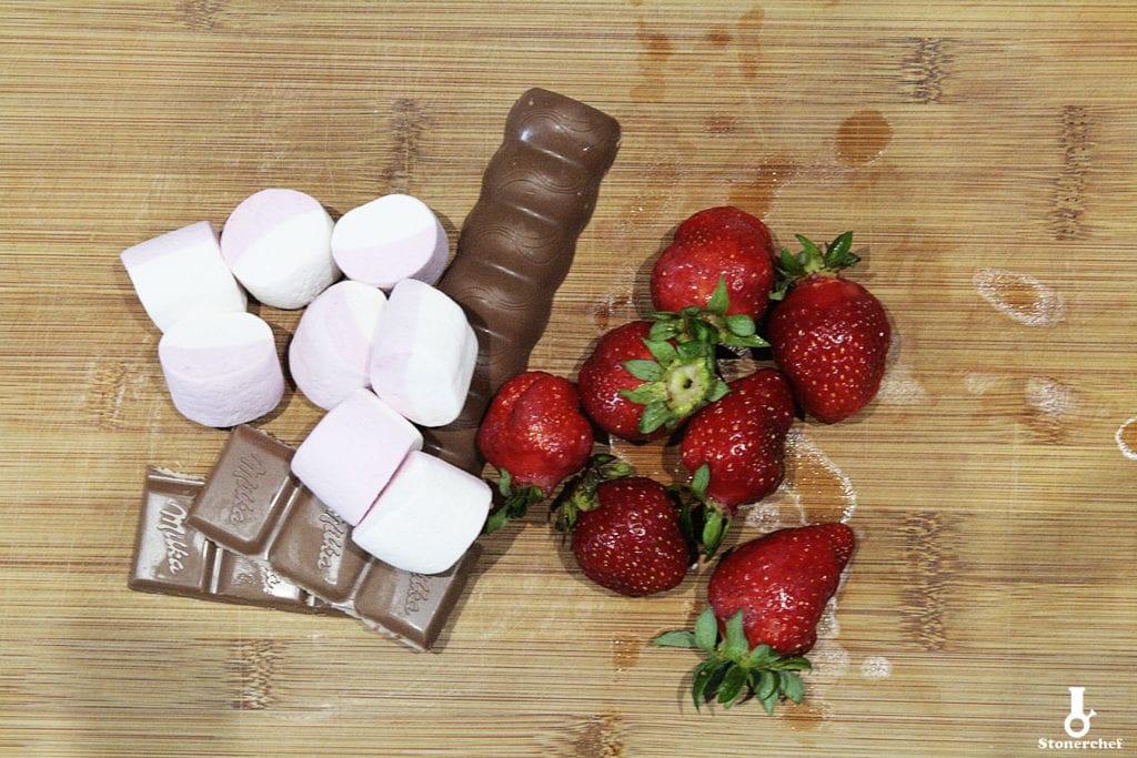 składniki na słodkie szaszłyki