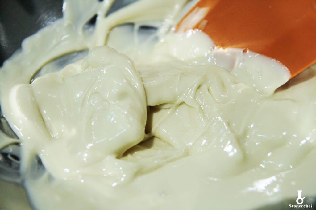 roztapiana biała czekolada
