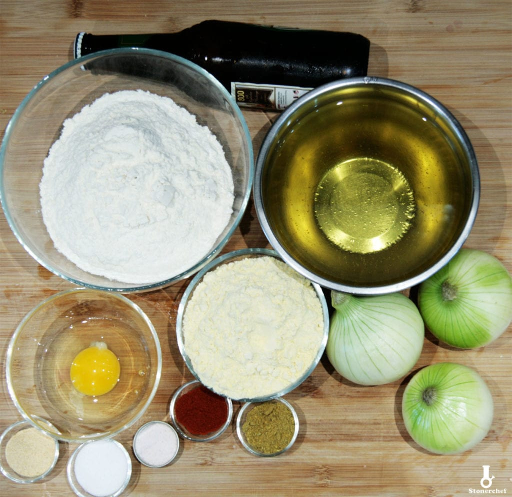 składniki na krążki cebulowe