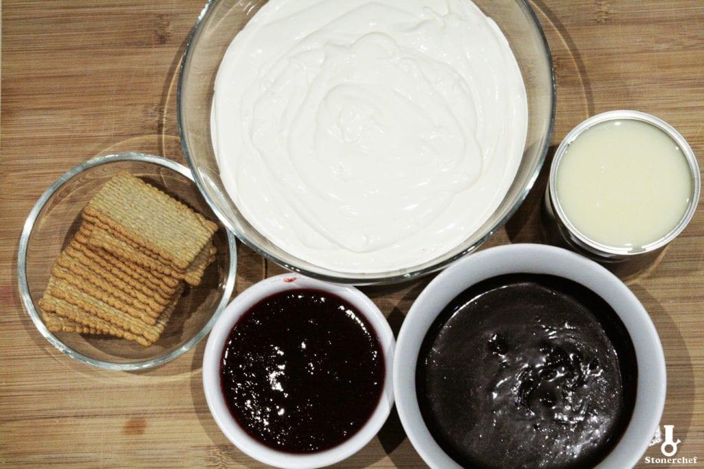 składniki na lody z białą czekoladą