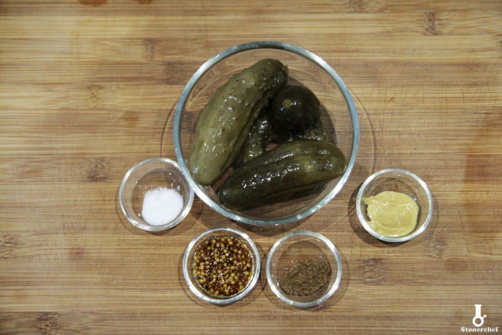 składniki na relish z ogórków