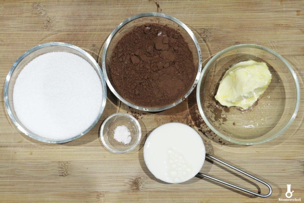 składniki na sos kakaowy