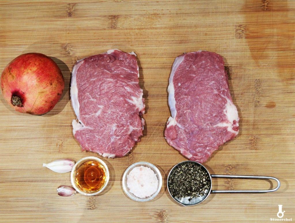 składniki na steki z rostbefu