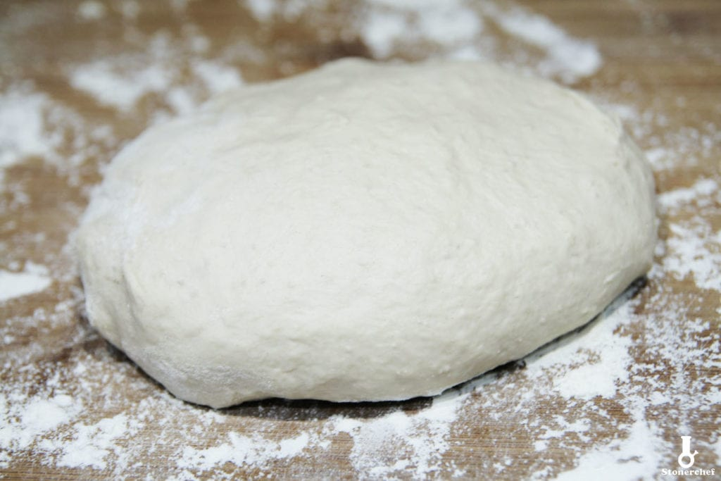 wyrobione ciasto na ciabatty