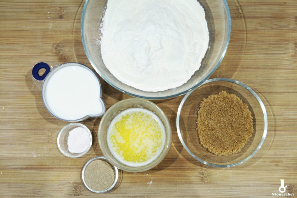 składniki na brioche