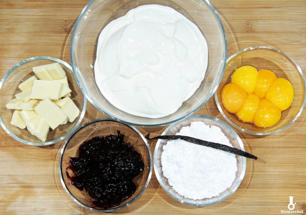 składniki na porzeczkowy creme brulee