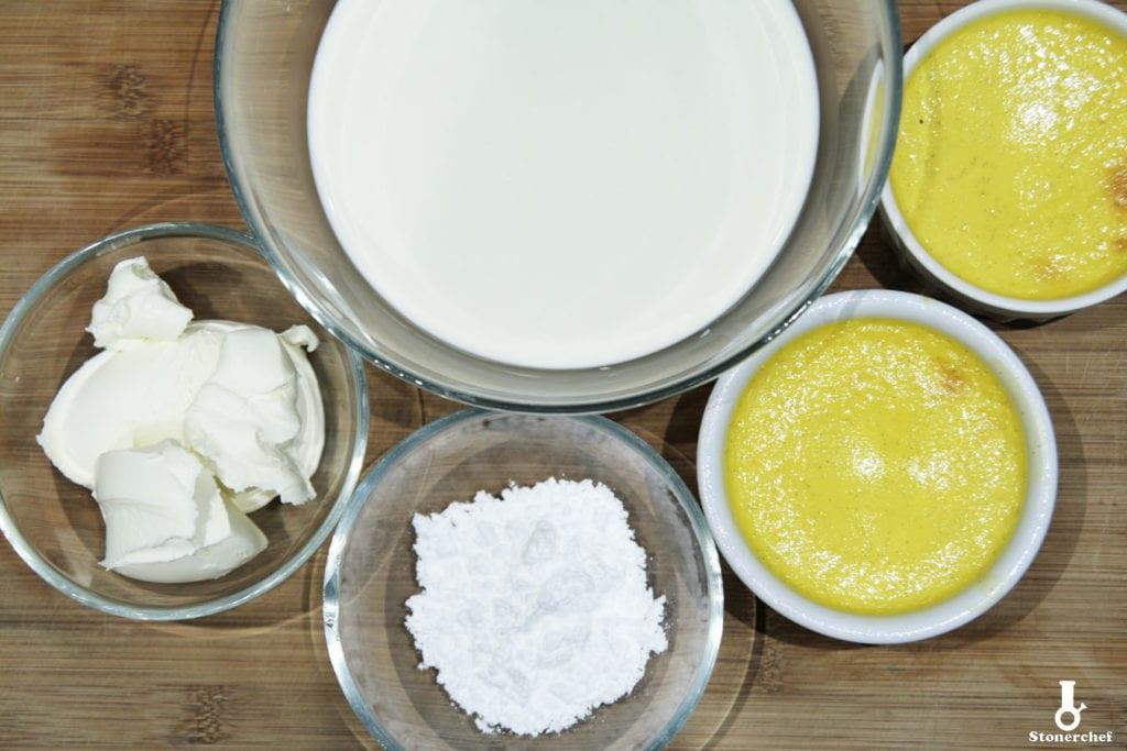 składniki na sernik creme brulee