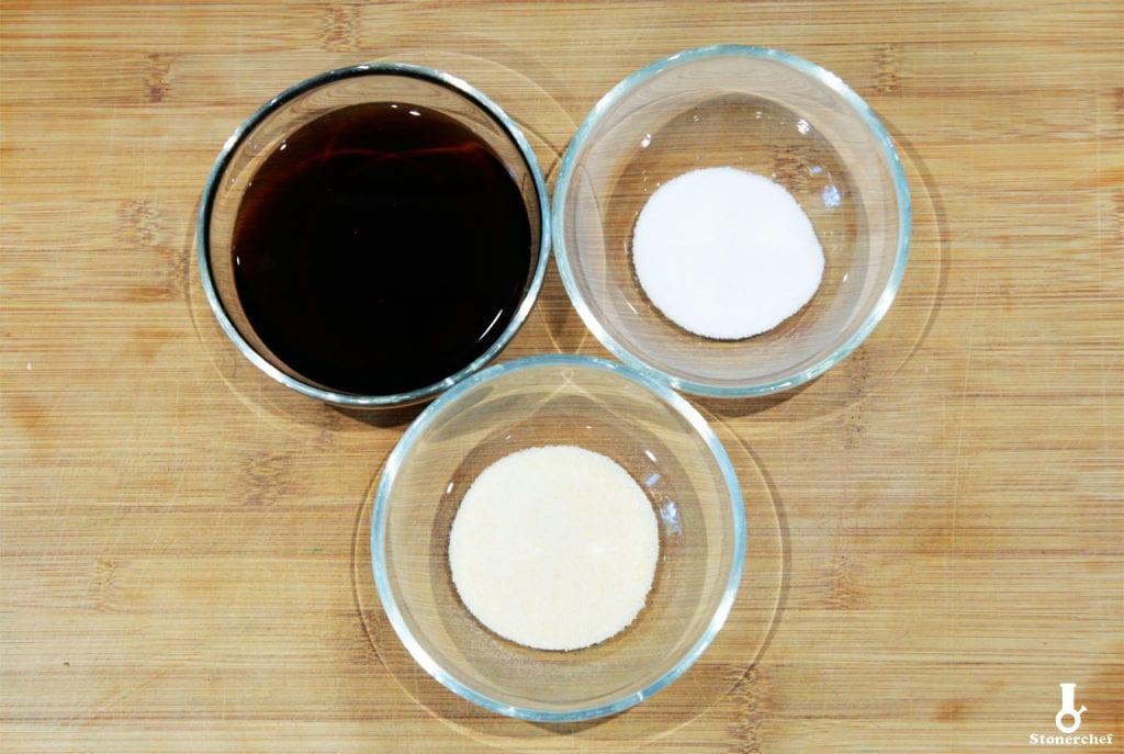 składniki na kwaśne żelki o smaku coli cherry
