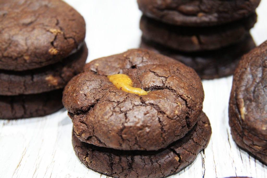 ciastka brownie z karmelkami