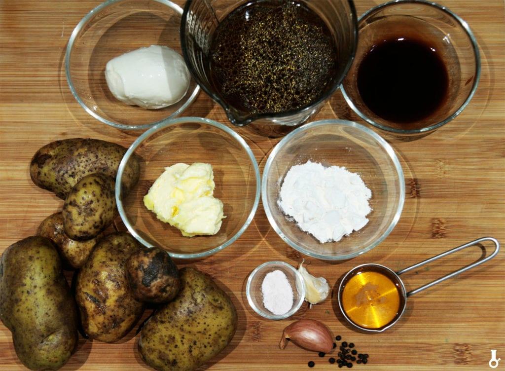 składniki na frytki z poutine