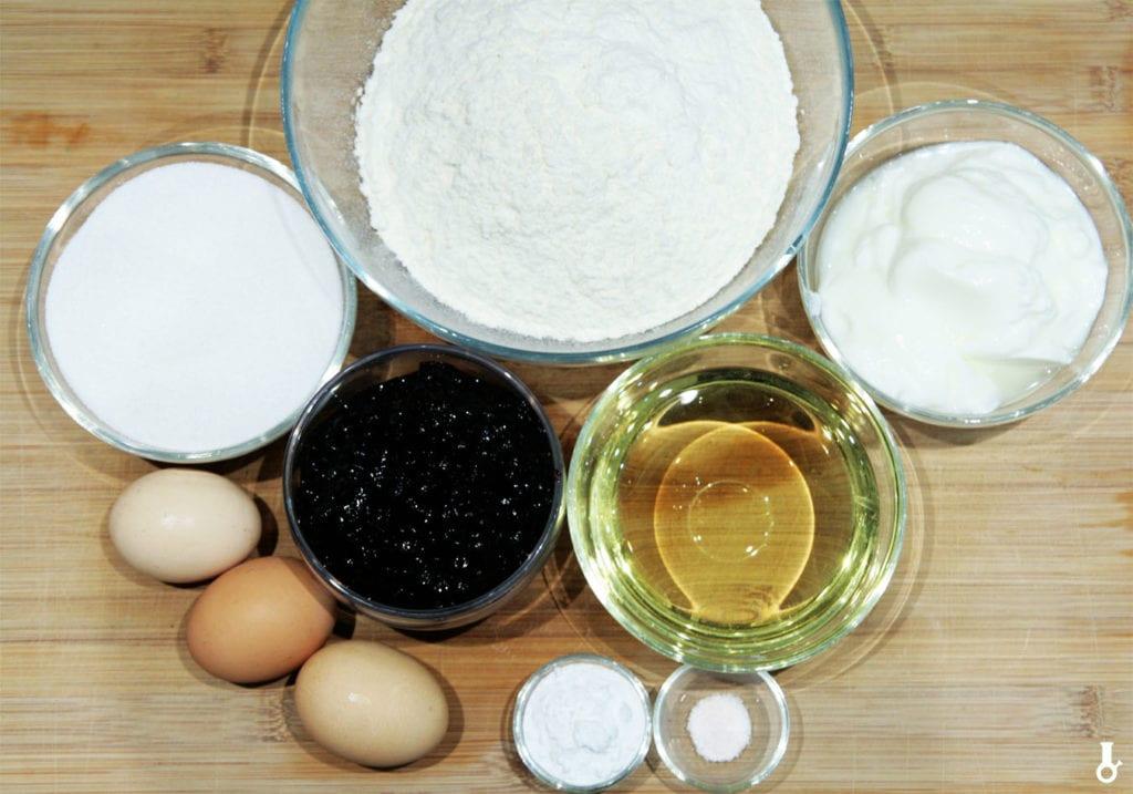 składniki na muffiny chałwowe