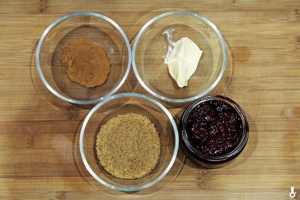 składniki na wypełnienie do bułeczek cynamonowych